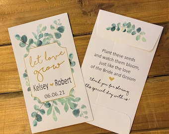 Let Love Grow-Seed Packets-Custom seed packet-Wedding seed packet-wedding seed pack-seed packet wedding favors-wedding favor-wedding seeds-
