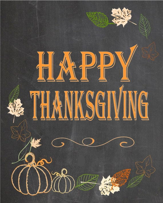photograph relating to Happy Thanksgiving Signs Printable named Delighted Thanksgiving Chalkboard poster, indicator - back garden indicator Prompt down load Printable