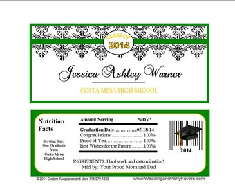 Graduation Candy Bar Wrapper Many Colors - Personalized (set of 15) 1196