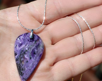 Evening Sky - Charoite Sterling Silver Necklace