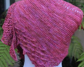 Rose Colored Little Bit Shawlette