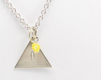 Team Instinct Inspired Pokemon Go Necklace in Silver - Team Instinct Necklace, Team Instinct Jewelry, Pokemon Go Jewelry, Gamer Geek Jewelry