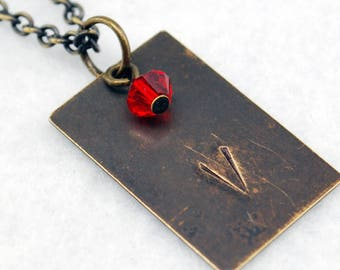 Team Valor Inspired Pokemon Go Necklace in Antique Brass - Team Valor Necklace, Team Valor Jewelry, Pokemon Go Jewelry, Geek Gamer Necklace