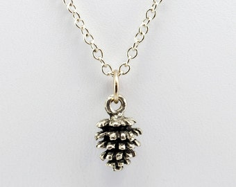 Pine Cone Necklace in Silver - Pinecone Jewelry, Woodland Necklace, Pine Trees, Forest, Nature