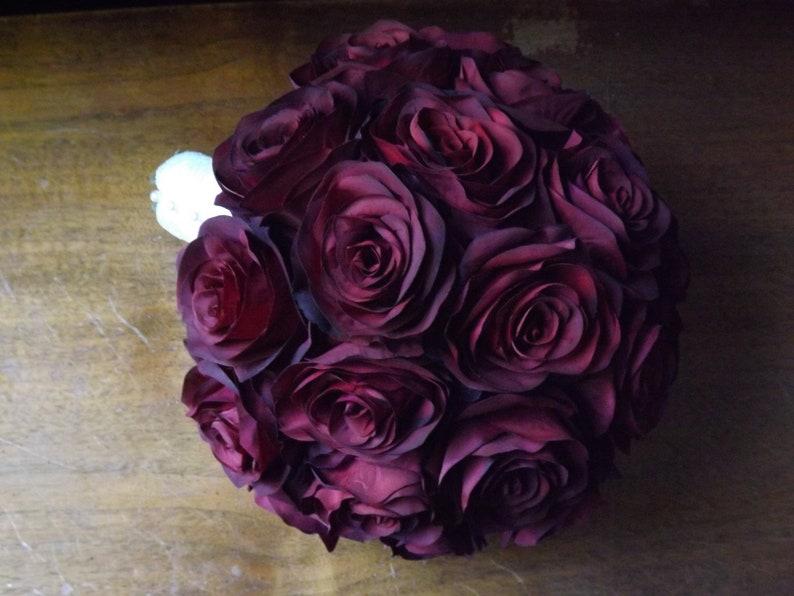 Simple and elegant black magic open rose bridal bouquet