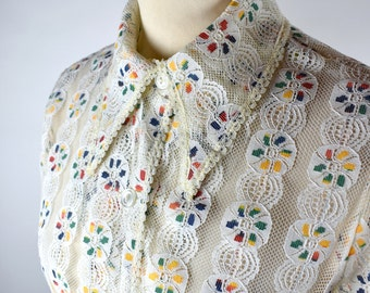 1950's Twee Lace Blouse by Mr. Stan, Doily Blouse