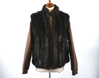 MUST SEE Convertible Faux Fur Jacket/Vest in EXCELLENT Condition! Women's Medium
