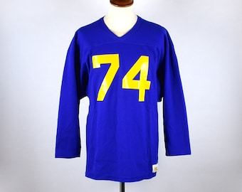 1970's Russell Athletic Football Jersey, Russell Athletic Gold, Size Medium