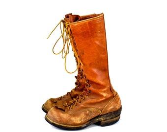afa8c58fdf9 Men's lineman boot | Etsy