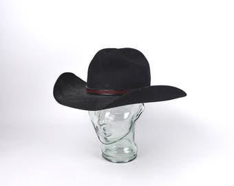 Western Style Men s Black Cowboy Hat by Master Hatters of Texas acfd22638b20
