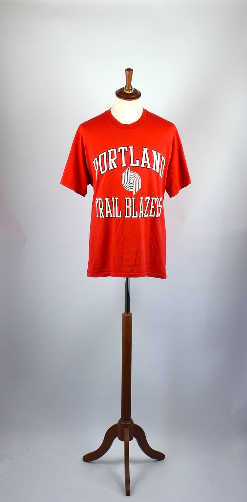 c5b9e43bb14a 1980 s Portland Trail Blazers T-shirt by Logo 7 Size