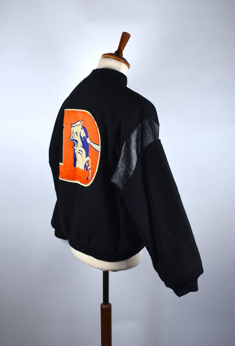 RARE 1980/'s Denver Broncos Wool Varsity Jacket by Chalk Line Size Large