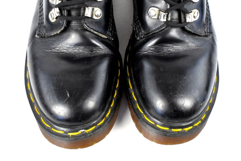 Original 1980/'s 1460 Leather Dr Marten Boots with Metal Hardware Made in England