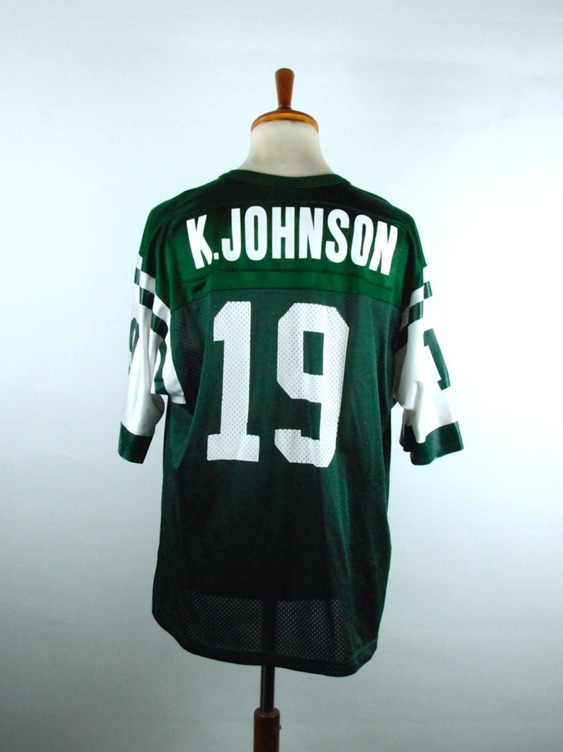 buy online 863fc d61fb New York Jets Jersey, Keyshawn Johnson Jersey by Champion, Size 48