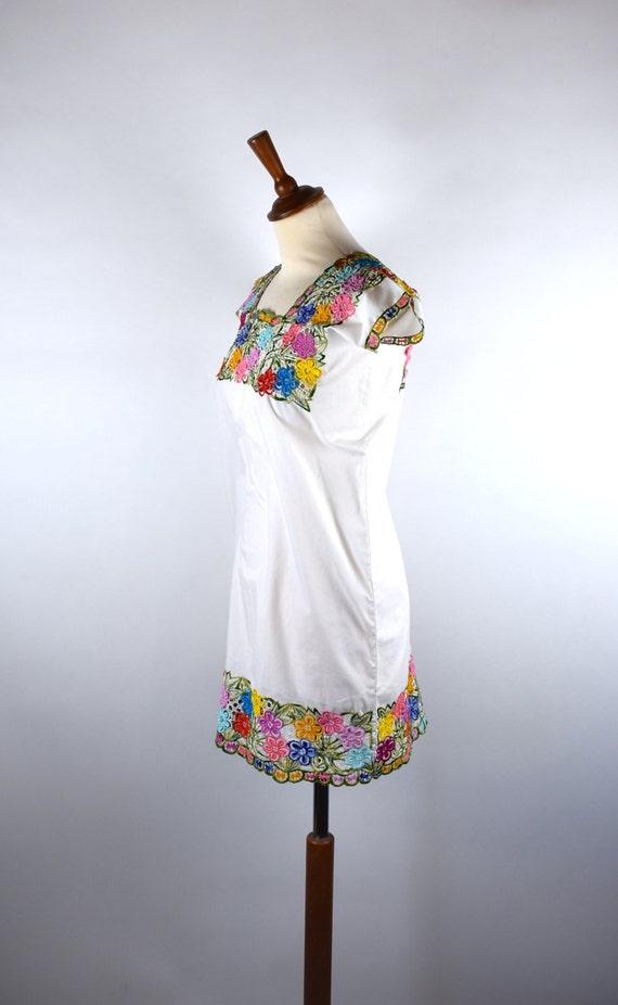 Encaje floral popular Huipil blusa de flores de la servilleta   Etsy