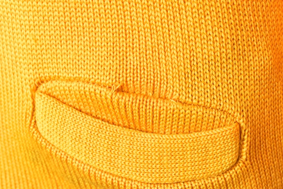 1950 ' s Cardigan jaune Letterman B avec Chenille B Letterman avec District Champs Patch, Lanza - Roper & Lanza tricot Company, Boston Massachusetts 33f8ae