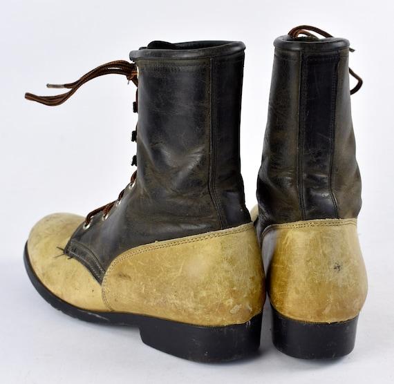 Zweifarbig Packer Stiefel mit doppelten Kiltie von Laredo, Frauen Größe 6 12 M