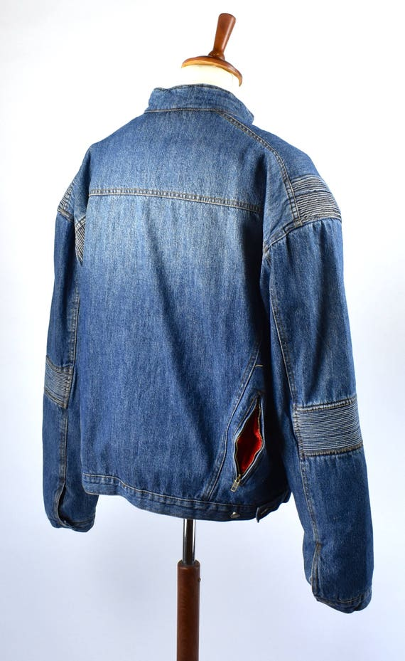 Denim Motorcycle Jacket, Size 52, Made in England