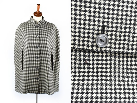1950's ANTHONY BLOTTA Black and White Wool Houndst