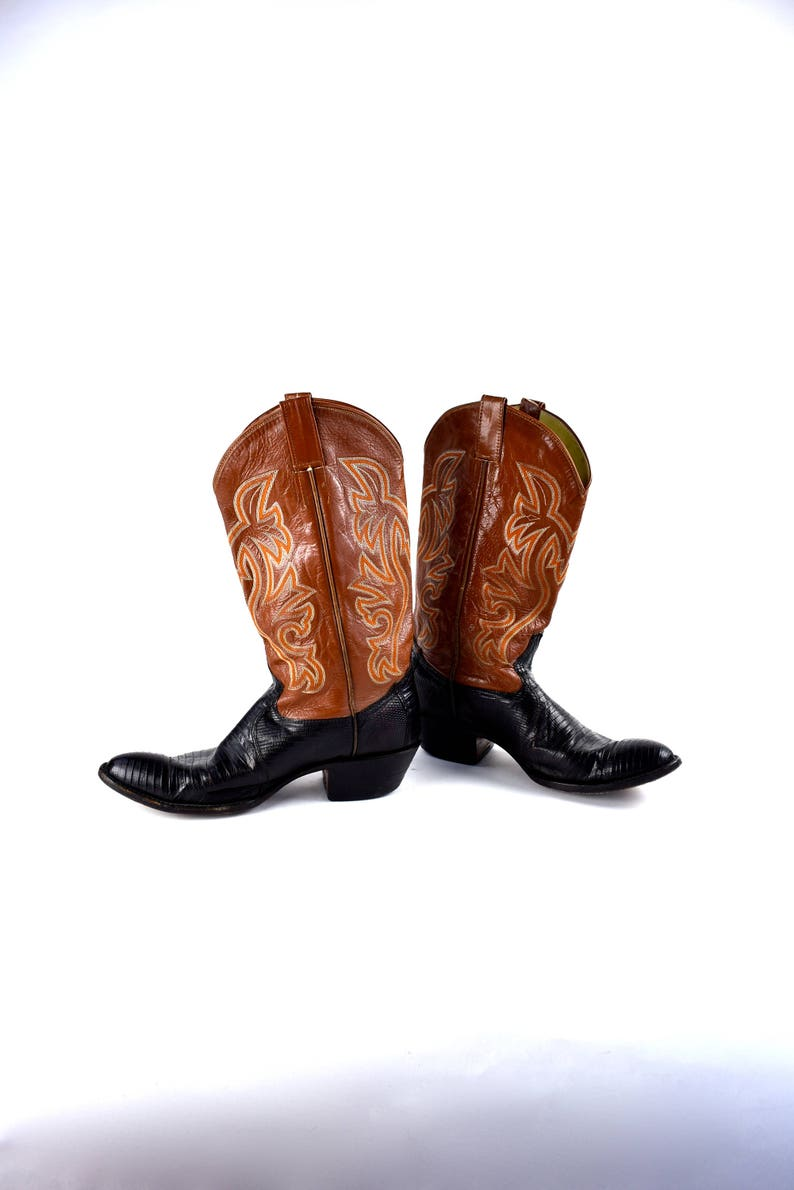 7f1d8643108 Cordovan and Brown Cowboy Boots by Cowtown Boots, Made in the USA, Men's  size 10.5 D