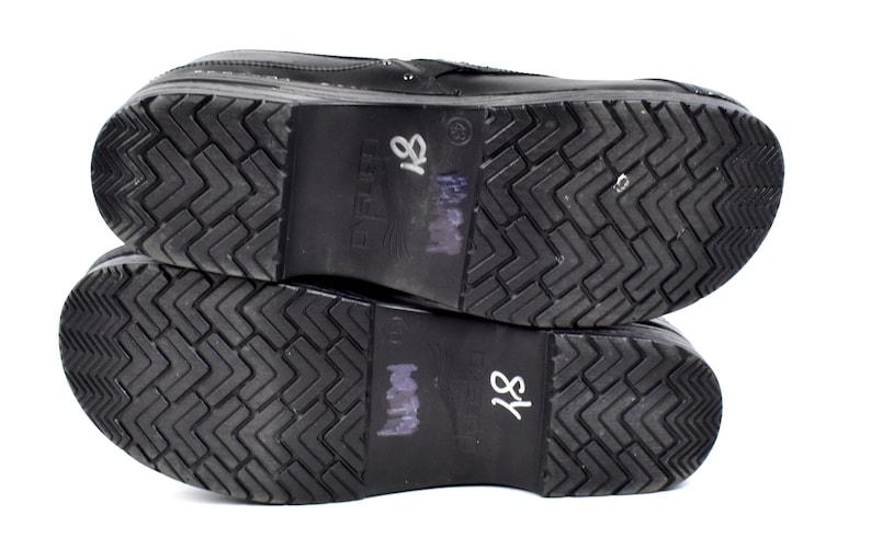 Size 43 Black Leather DANSKO Clogs
