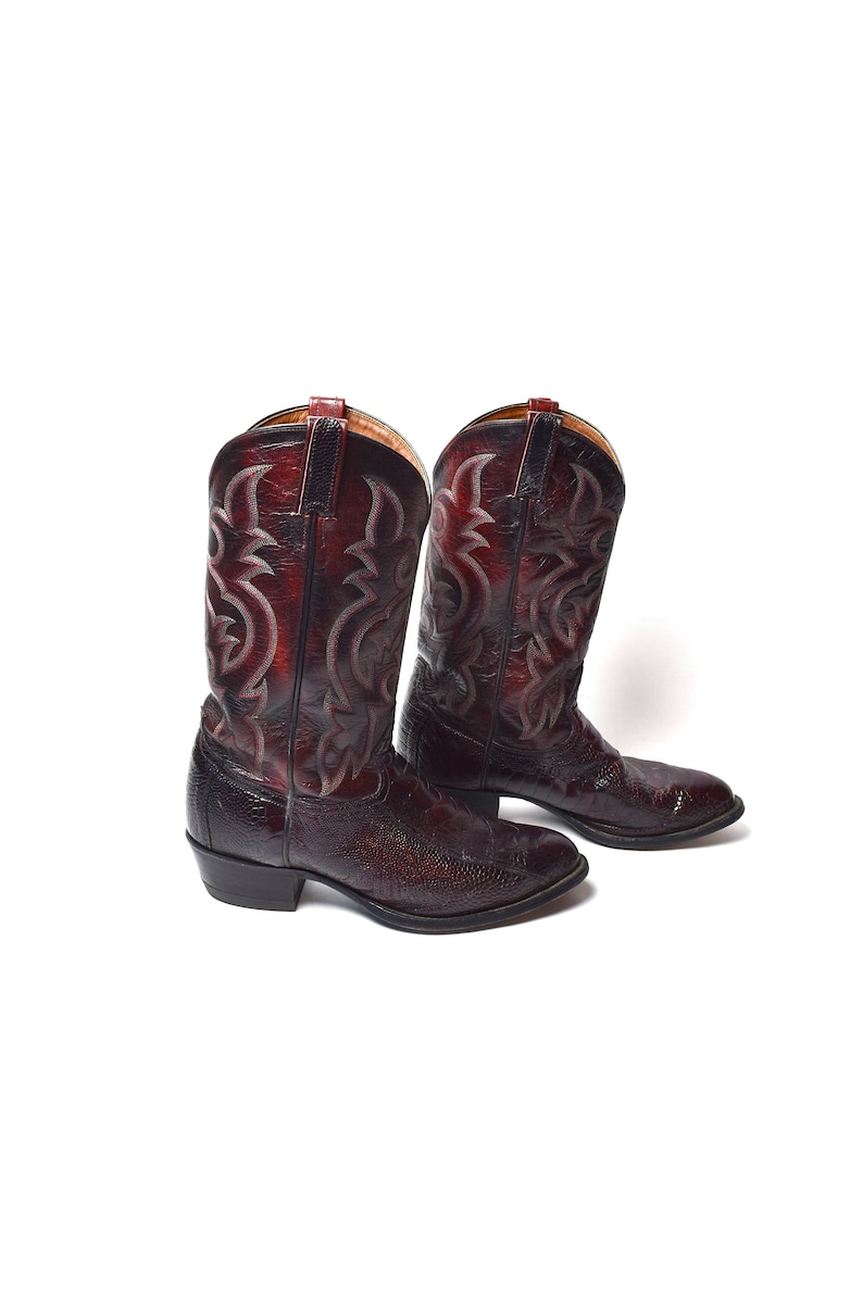 23b648e0d93 Tony Lama Cordovan Snakeskin Cowboy Boots - Size 11 EE - Excellent Condition