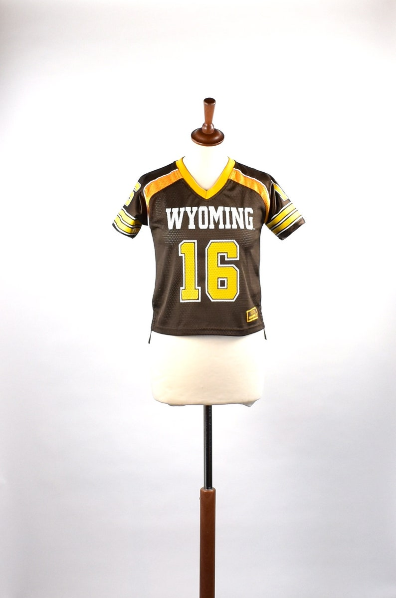 40af7be1689 Wyoming Cowboys Mesh Football Jersey | Etsy