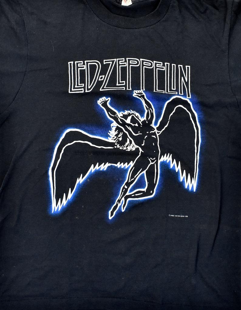 5cc030b42 1984 Led Zeppelin Swan Song T-Shirt by Myth Gem Ltd. Screen | Etsy
