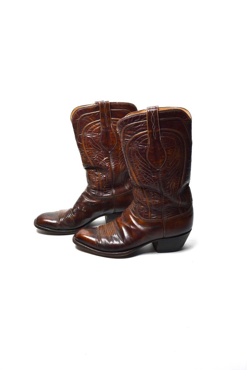3881ba6b Tłoczona skóra męskie Lucchese buty rozmiar 9 D | Etsy