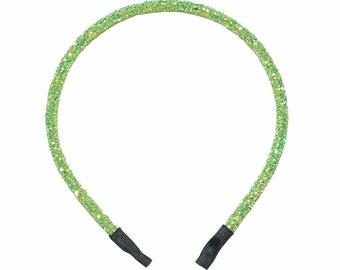 Lime Green Headband, Lime Glitter Headband, Glitter Headbands, Sparkly Headband, Toddler Headband, Girls Lime Headband, Solid Headband