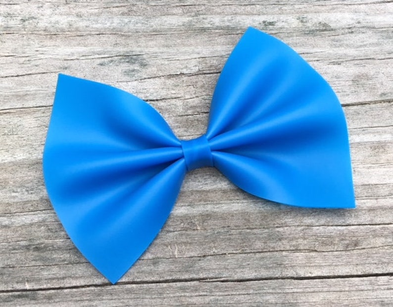 Waterproof Bows Summer Hair Bow Blue Bows Water Resistant Bow Bright Blue Bow Royal Blue Hair Bow Jelly Bows Toddler Hair Bow
