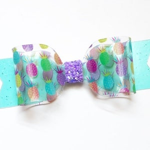 Toddler Waterproof Hair Bow Pineapple Jelly Hair Bow Pineapple Pool Hair Clip Pool Bow Jelly Hair Bow