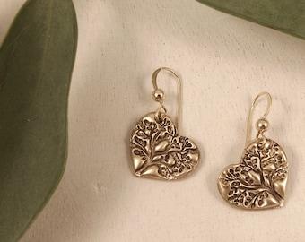 Brynn - Tree of Life Heart Earrings