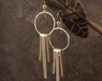 Caitlyn - Hoop and Bar Earrings