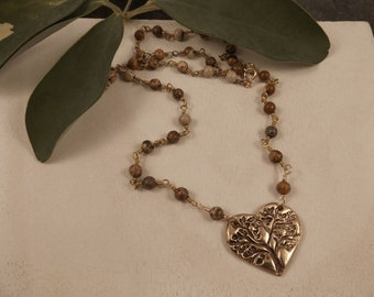 Brynn - Tree of Life Heart Necklace