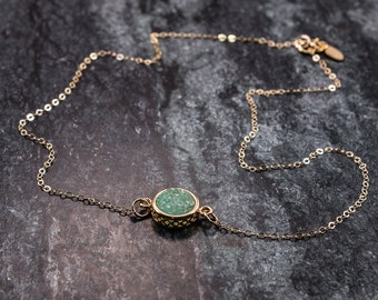 Druzy and Gold Necklace