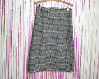Vintage 1980s Perfect Plaid High Waisted Skirt