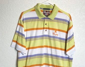 febdc551 COOGI Striped Oversize Polo