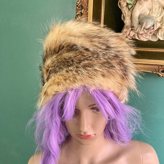 Vintage 1960s Coyote Fur Bucket Hat