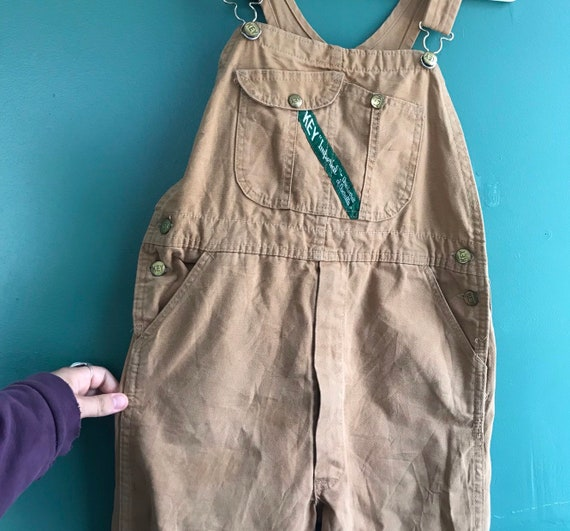 Vintage 70s KEY Imperial Brown Workwear Overalls W