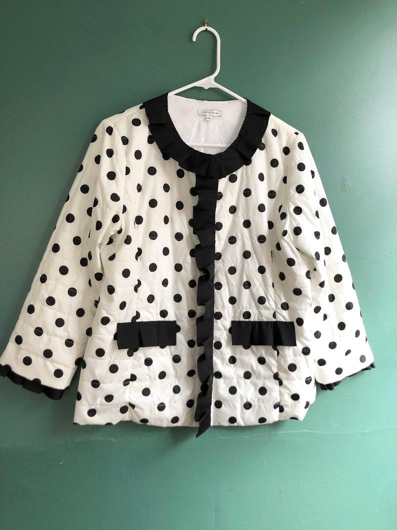 Vintage Black n White Patty Kim Puffer Jacket