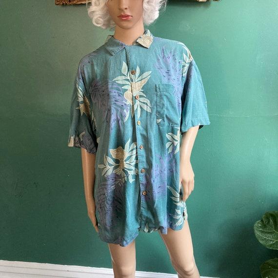 Vintage 90s Pure Silk Washable Hawaiian Shirt