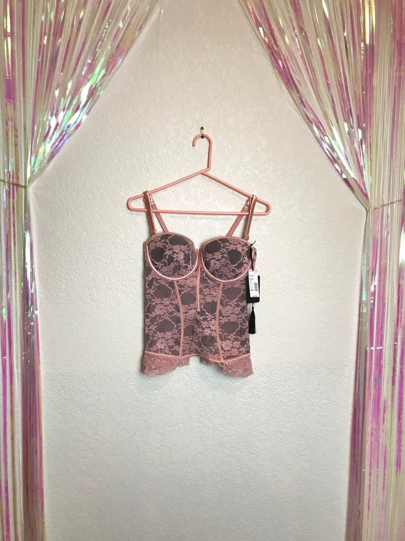 22cad99863c Deadstock Pink Lace Corset with Original Tags