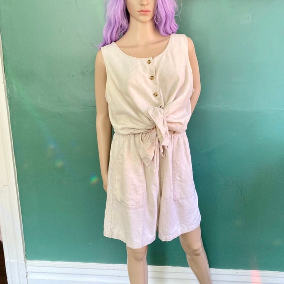 Minimalist Linen Blend 2 Piece Top and Shorts Loun
