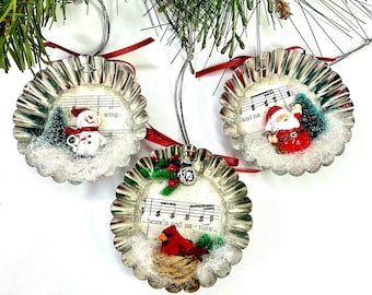Diorama Christmas Ornaments, 2021 Collectibles  Holiday Decor, Santa, Reindeer, Snowman