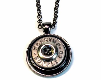 Steampunk Necklace Pendant with Repurposed Buttons, Upcycled Jewelry Gift