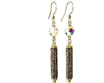 Sparkly Bead Earrings with Crystals