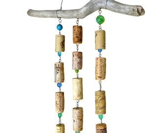 Upcycled Wine Cork Wall Hanging, Beach House Decor