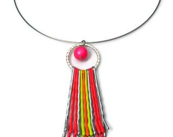 Neon Necklace Pendant Choker, Summer 2021 Fashion