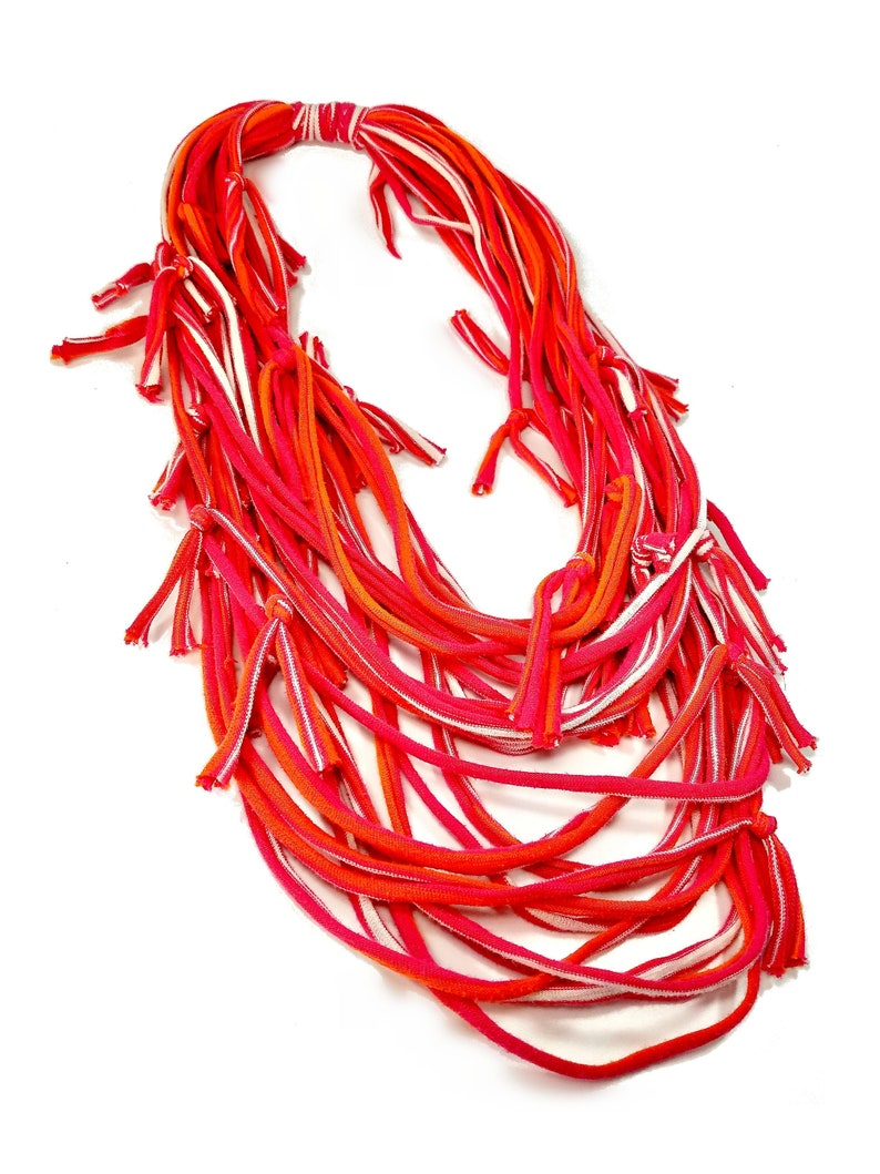 Hot Pink Infinity Scarf Necklace Statement image 0